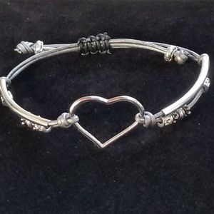 Jewelry - Genuine leather cord heart bracelet